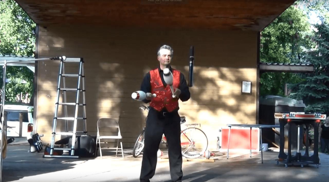 Juggling 150,000 Volt Stun Baton