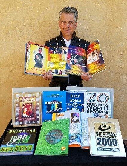 Sword Swallower Brad Byers World Record Books