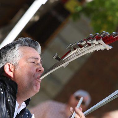 Brad Byers Sword Swallowing World Record 12 Swords