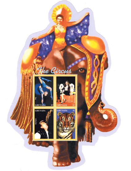 Sword Swallower Brad Byers Grenada Postage Stamp