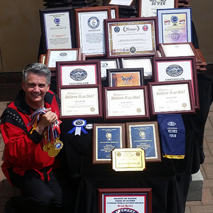 Sword Swallower Brad Byers World Records and Awards
