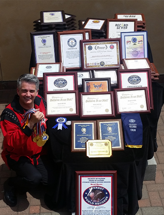 Sword Swallower Brad Byers World Records and Awards.