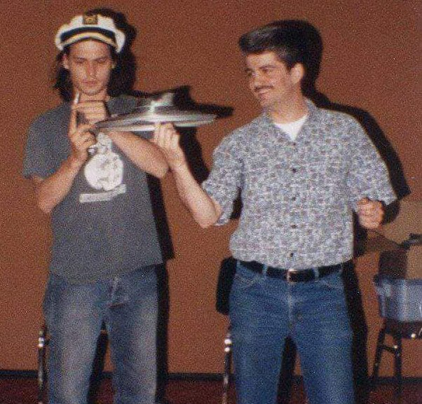 Brad Byers and Johnny Depp Hubcap Spinning for the Movie Benny & Joon