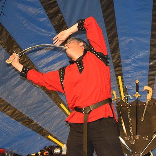 Sword Swallower Brad Byers Curved Scimitar Sword