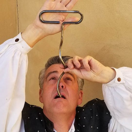 Sword Swallower Brad Byers Giant Corkscrew